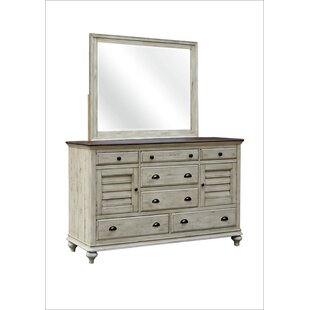 Wilfred 7 Drawer Combo Dresser with Mirror