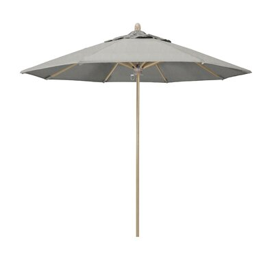 Sierra Series 9 Market Sunbrella Umbrella California Umbrella Fabric Color Granite Frame Color White Oak