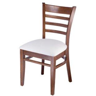 Red Barrel Studio Delrick Wood Upholstered Dining Chair (Set of 2)
