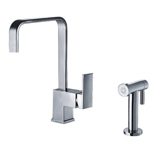 Whitehaus Collection Jem Single Handle Kitchen Faucet with Side Spray