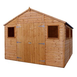 10 Ft. X 10 Ft. Solid Wood Garden Shed By WFX Utility
