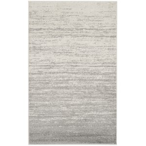 Busick Ivory/Silver Area Rug