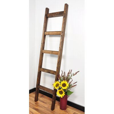 BrandtWorksLLC 6 ft Blanket Ladder Color: Dark Walnut