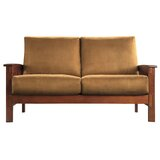 Wydmire Mission 60 Recessed Arms Loveseat by Charlton Home