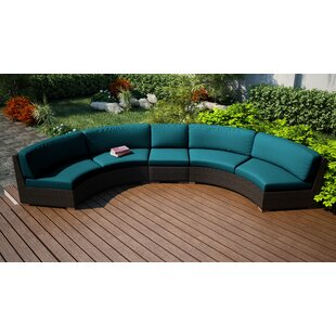 Hodge Extended Curved Patio Sectional with Cushions