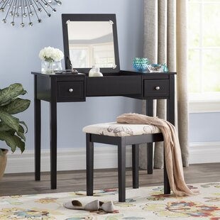Kinkaider Vanity Set with Mirror by Andover Mills