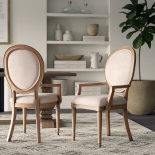 Tekamah Upholstered Arm Chair (Set Of 2) by Greyleigh Comparison