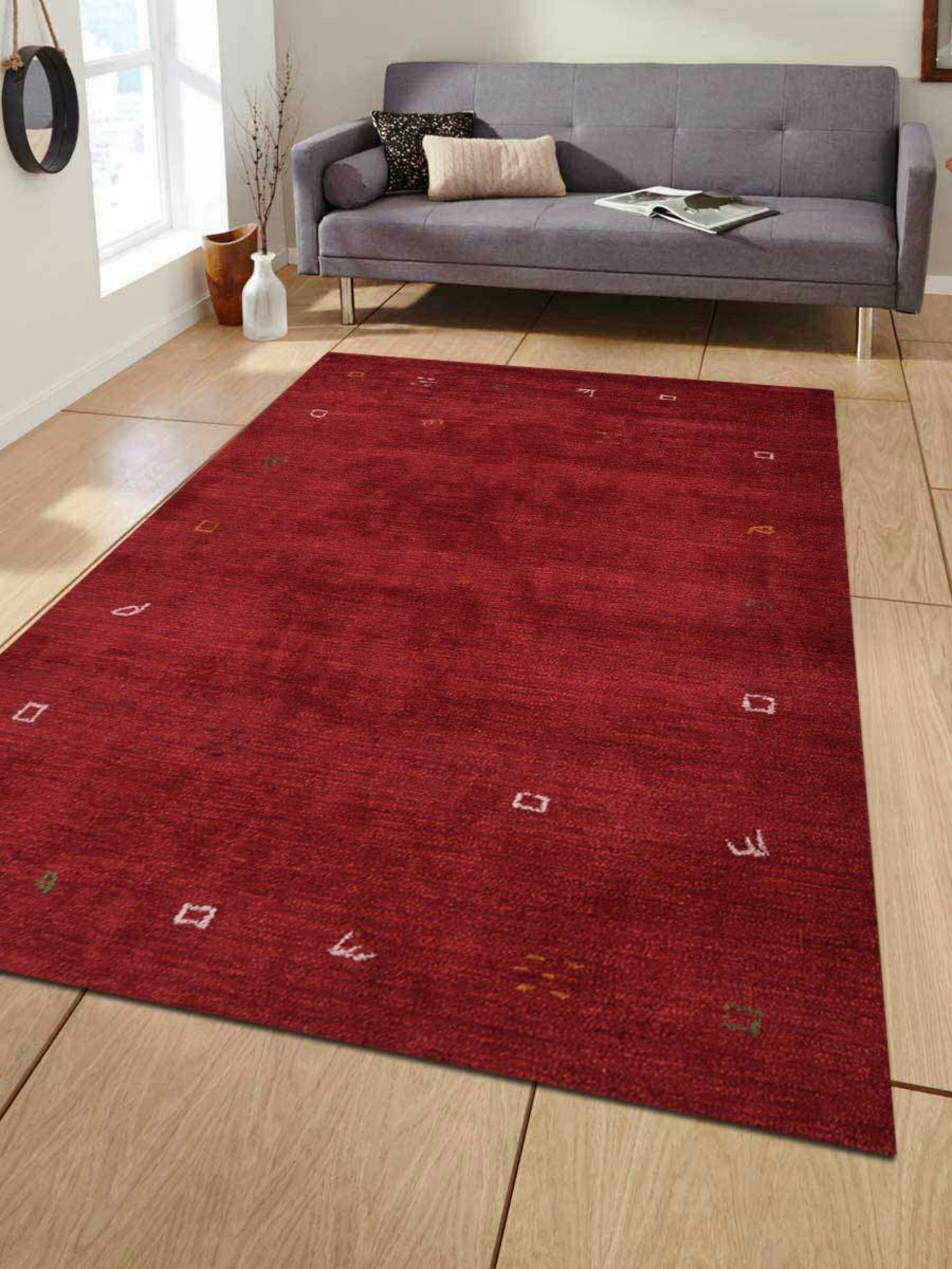 Union Rustic Paisleigh Hand Knotted Red Area Rug Wayfair