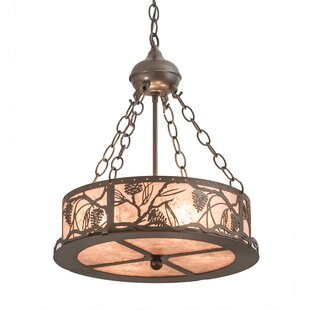 Loon Peak Wynsum Pines 4-Light Drum Pendant