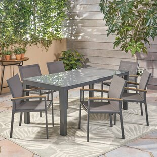 Ivy Bronx Bolesworth Outdoor 7 Piece Dining Set