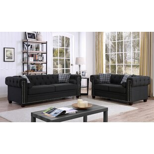 Find a Quan Chesterfield Nailhead 2 Piece Living Room Set by Canora Grey Reviews (2019) & Buyer's Guide