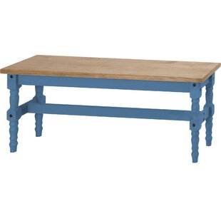 Gracie Oaks Pinard Solid Wood Bench