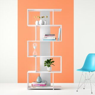 Angelica Geometric Bookcase by Hashtag Home SKU:BA228671 Purchase