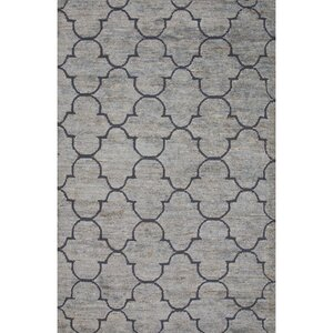 Archer Lane Jute and Wool Blue Naturals Area Rug