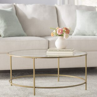 Glass Gold Coffee Tables Youll Love Wayfair