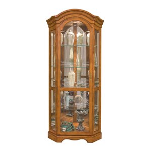 Barrington Lighted Corner Curio Cabinet by Philip Reinisch Co.