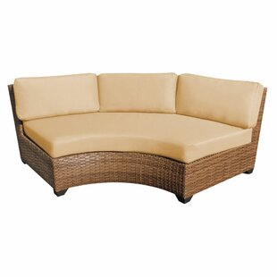 Brayden Studio Asellus Curved Armless Sofa with Cushions