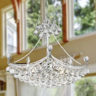House of Hampton Carson 6-Light Crystal Chandelier