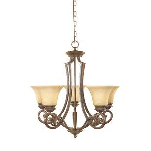 Designers Fountain Mendocino 5-Light Shaded Chandelier