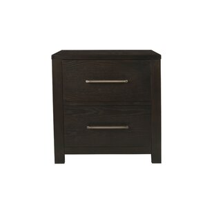 Anatole 2 Drawer Nightstand by Wrought Studio