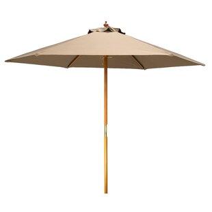Khalil Wood Frame 8' Market Umbrella by Bay Isle Home