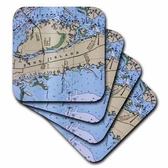 Set of 4 3dRose cst/_3623/_3 Fairys Magic Oasis Ceramic Tile Coasters