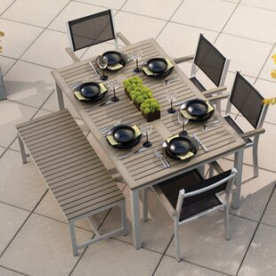 Latitude Run Farmington 6 Piece Dining Set