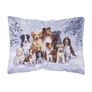 Libby Winter Dogs Indoor/Outdoor Throw Pillow