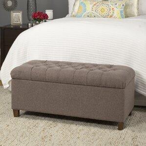 Halvorson Fabric Storage Bench