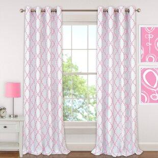 Kleinschmidt Geometric Blackout Grommet Single Curtain Panel