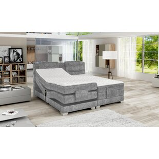 Achiuta King Upholstered Storage Standard Bed with Mattress by Ebern Designs