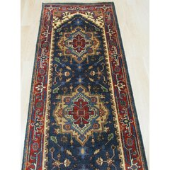Navy Oriental Runner Rug Wayfair