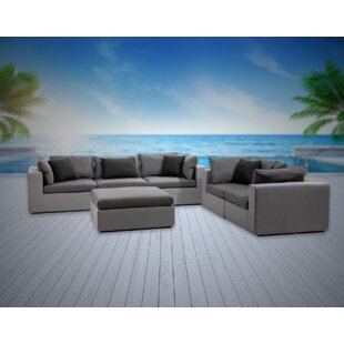 Malani 6 Piece Sunbrella Sofa Seating Group with Sunbrella Cushions