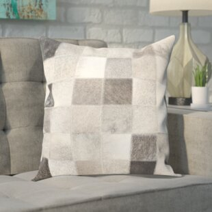 Modern Leather/Suede Throw Pillow (Set of 2)