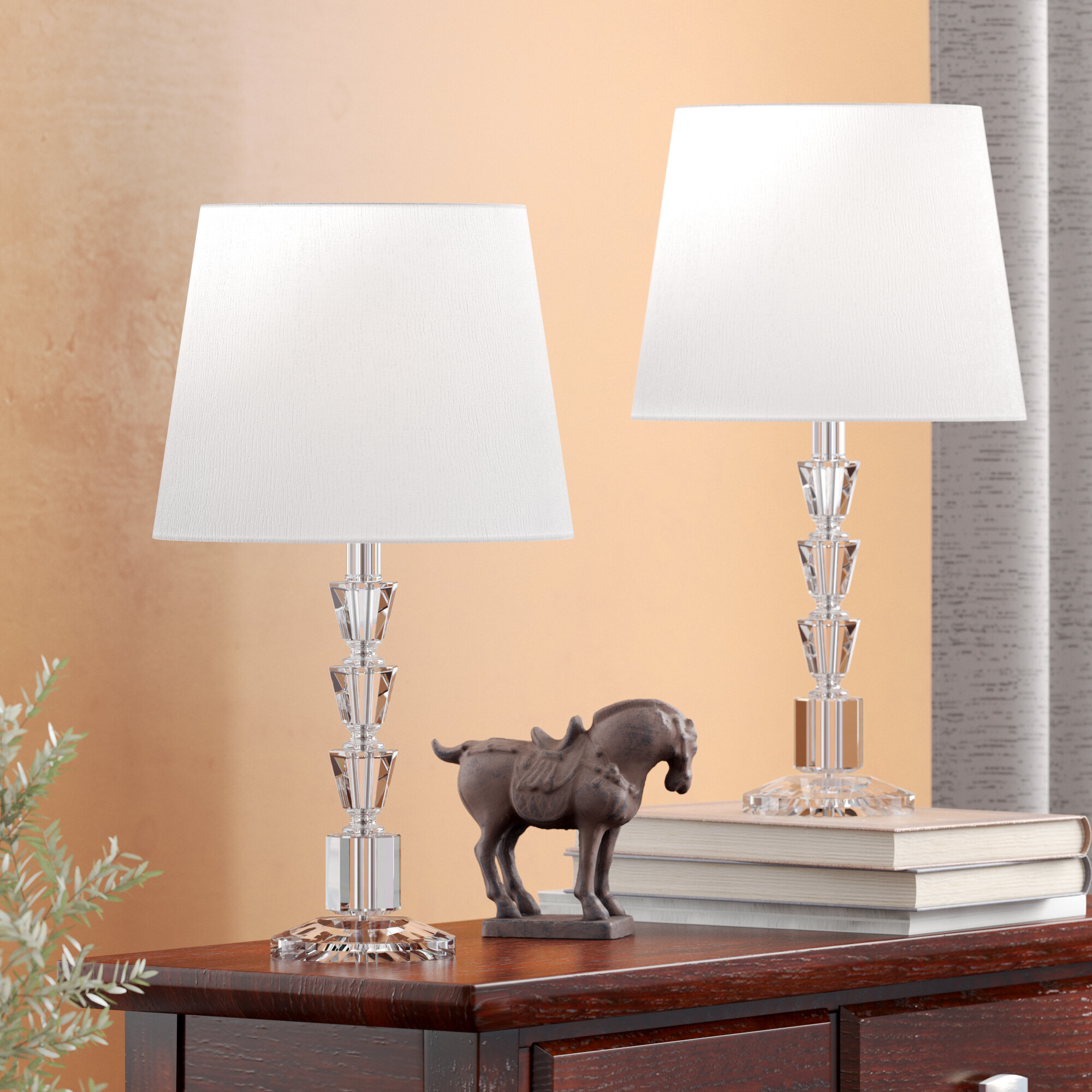 Willa Arlo Interiors Laurie 16 Clear Glass Table Lamp Set Reviews Wayfair Ca