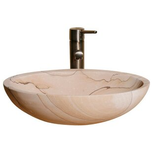 Allstone Group Stone Oval Vessel Bathroom Sink
