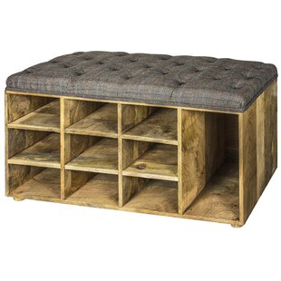 Lowry Tweed Shoe Storage Bench