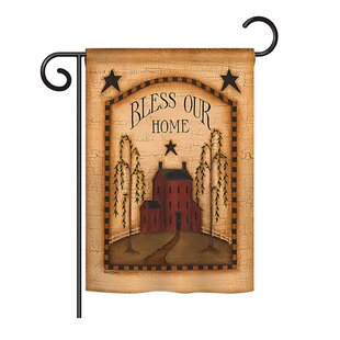 Classic Bless Our Home Inspirational Sweet Impressions Decorative Vertical 13 X 18.5 Double Sided Garden Flag Set by Breeze Decor