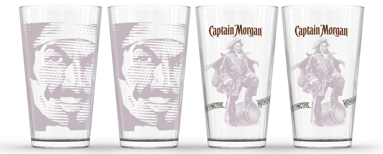 Pb Captain Morgan 4 Piece 16 Oz Pint Glass Set Wayfair
