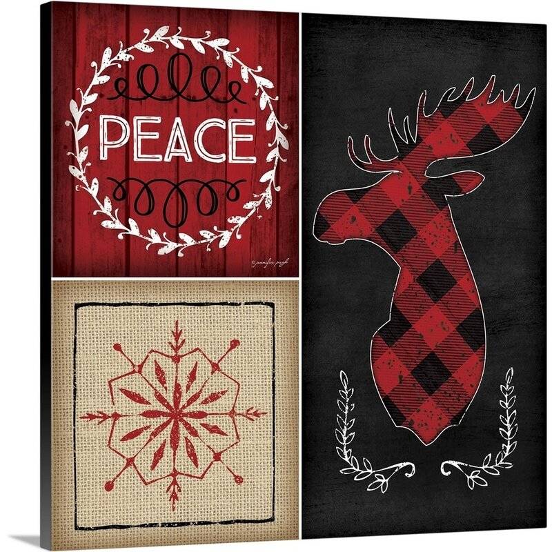 The Holiday Aisle Plaid Christmas Iv By Jennifer Pugh Graphic Art On Wrapped Canvas Wayfair
