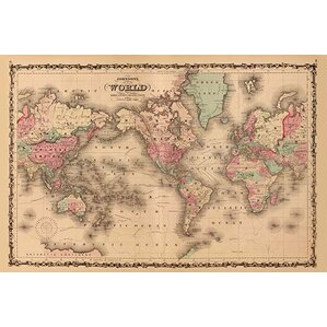 Magnetic j world map wayfair world map by aj johnson graphic art gumiabroncs Gallery