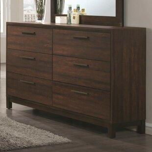 Toxey Wooden 6 Drawer Dresser