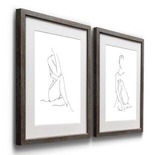 Framed De Simone Nude Art Sketch Chrome Framed Art Sold Separately Nude Sketch