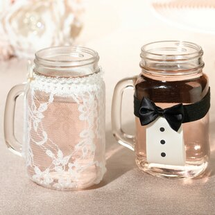 Bride And Groom Drink Glass Cover