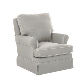Wayfair Custom Upholstery™ Gwinnett Swivel Glider with Contrasting Welt