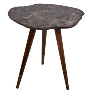 Mazzone Marble Print Wooden End Table