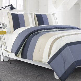Nautica Grand Bank 100% Cotton 3 Piece Reversible Duvet Set