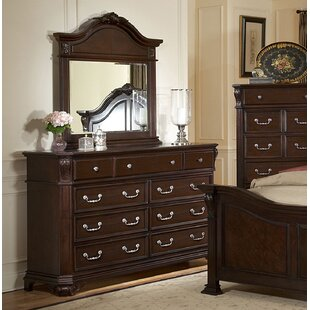 Bargain Raftery 9 Drawer Dresser with Mirror by Astoria Grand