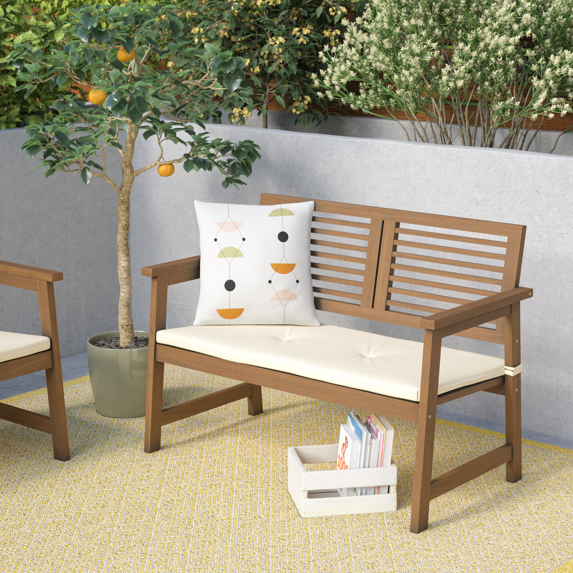Prime Arianna Meranti Wooden Garden Bench Alphanode Cool Chair Designs And Ideas Alphanodeonline