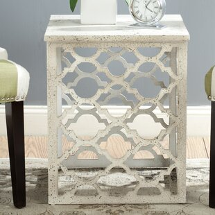 Lonny End Table in Distressed Grey